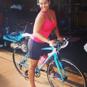 Girl on new bike