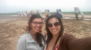 Paola and I at Cadillac Ranch :D